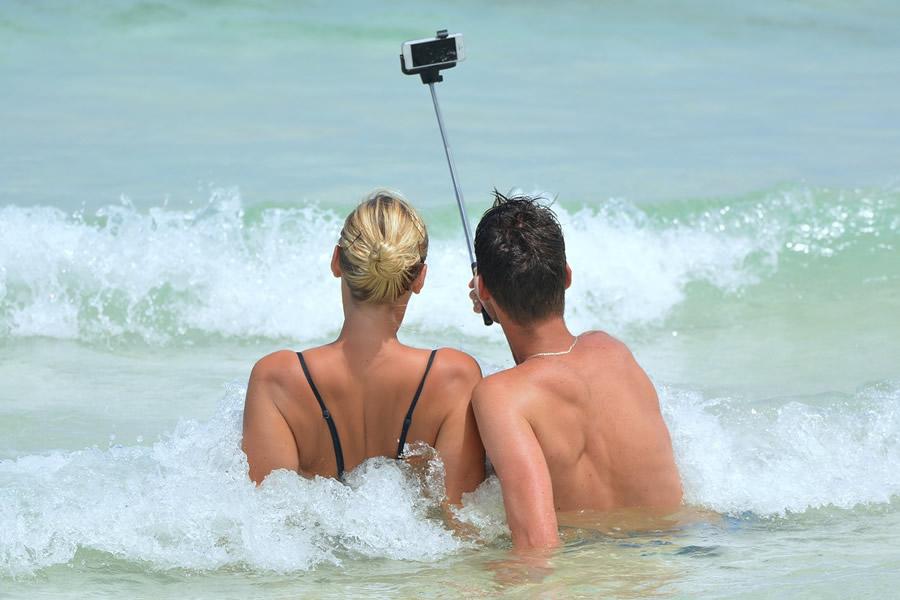 Selfie Glueckliches Paar